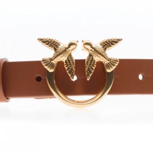 Pinko cintura cuoio donna con catena oro