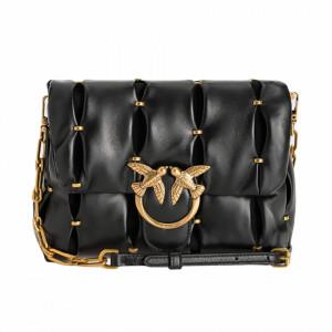 Pinko mini puffy pinched bag in black