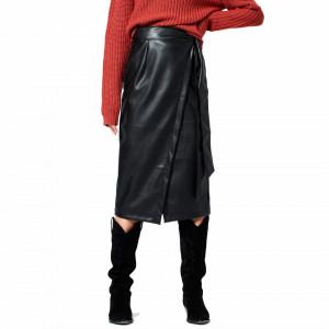 Rut & Circle high waist long skirt with slit