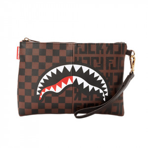 Sprayground pochette Split marrone