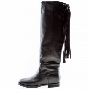 Way Out black high boots with laces