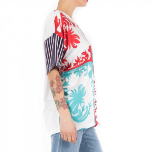 Ynot t shirt over donna colorata