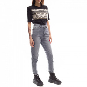 Dr Denim jeans boyfriend grigio