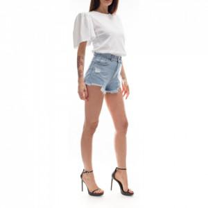 Dr Denim short mini short fringed jeans