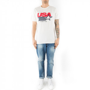 Eleven Paris t-shirt bianca usa olympic team