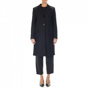 Gaelle cappotto lungo nero donna