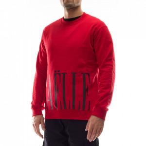 Gaelle felpa uomo rossa con logo nero sul fondo