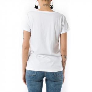 Happiness t-shirt bianca donna astenersi perditempo