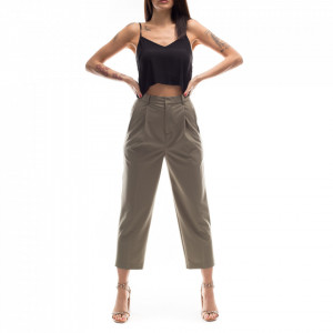Isabelle Blanche military green gaucho trousers
