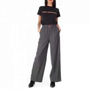 Isabelle Blanche pantalone a palazzo grigio