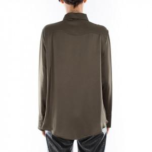 Jijil camicia in raso verde