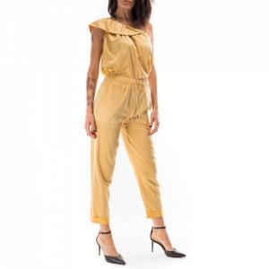 Jijil pantaloni in seta giallo