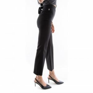 pantaloni vita alta neri