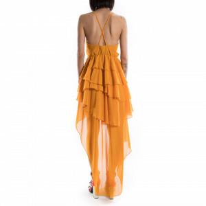 vestito corto giallo elegante
