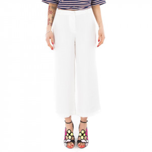 Minimum pantaloni bianchi eleganti donna