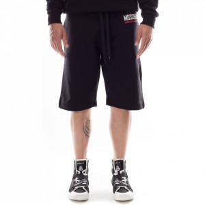 Moschino bermuda nero uomo con logo bianco