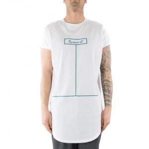 Numero 00 t-shirt con stampa uomo bianca