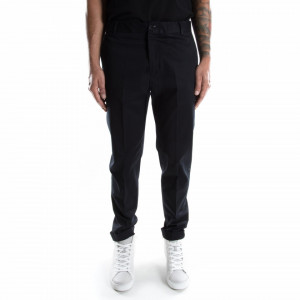 Outfit man black fabric trousers