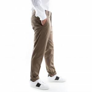 pantalone classico verde militare