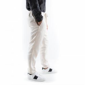 pantalone lino bianchi uomo