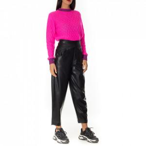 Pinko black eco leather trousers