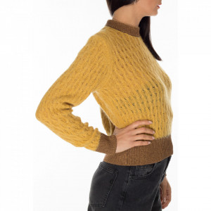 pinko-maglione-corto-lana-giallo