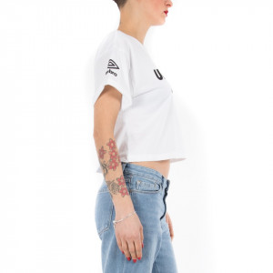 Umbro t shirt donna corta bianca