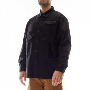 Edwin camicia nera multitasche
