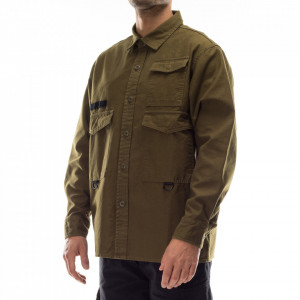 Edwin military green shirt with multi pockets