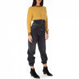 Gaelle jeans bustier nero donna