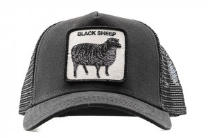Goorin Bros cappello visiera trucker black sheep patch pecora
