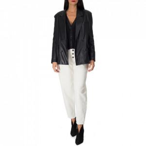 giacca-blazer-nera-ecopelle