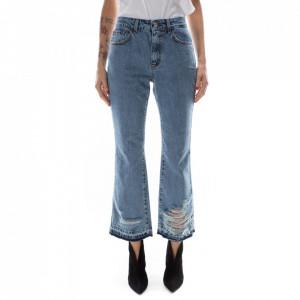 Jijil jeans strappato a zampa
