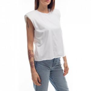 Jijil white t-shirt with shoulder pads
