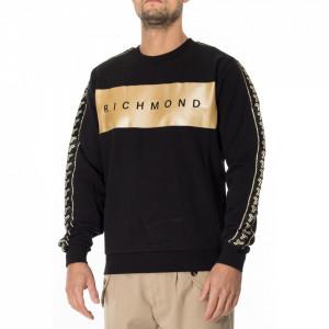 John Richmond black sweatshirt with gold logo