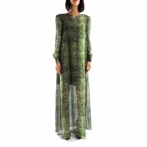 John Richmond long reptile print dress