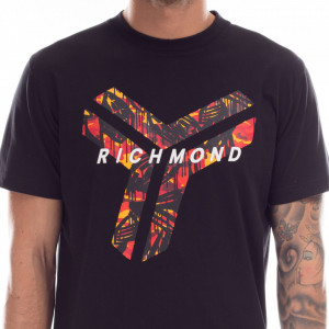 john-richmond-t-shirt-nera-logo-rosso