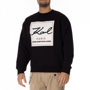Karl Lagerfeld black logoed sweatshirt