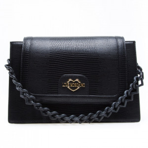 Love Moschino black shoulder bag with chain