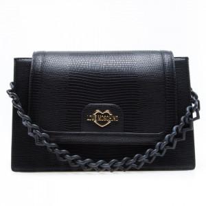 Love Moschino borsa tracolla nera con catena