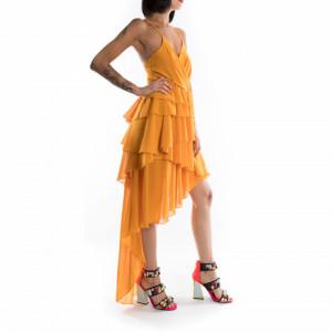 vestito corto giallo