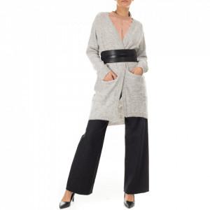 Minimum maxi cardigan lana grigio