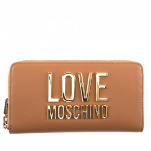 Moschino Love leather wallet with zip
