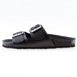 Moschino Love sandals with black buckles
