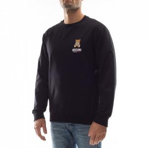 Moschino man black sweatshirt teddy bear