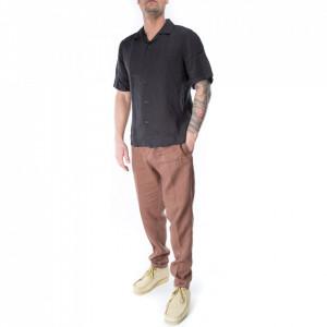 camicia-californiana-lino-nera