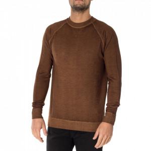 Outfit maglia in lana marrone caffè
