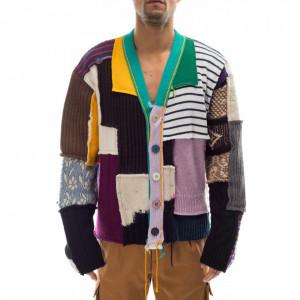 Paura multicolor patchwork Gwendal cardigan