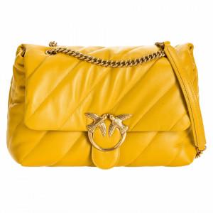 Pinko big puff maxi bag ocher yellow