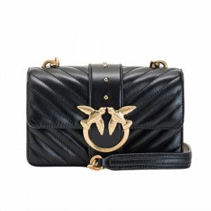 Pinko borsa tracolla nera piccola icon bag trapuntata